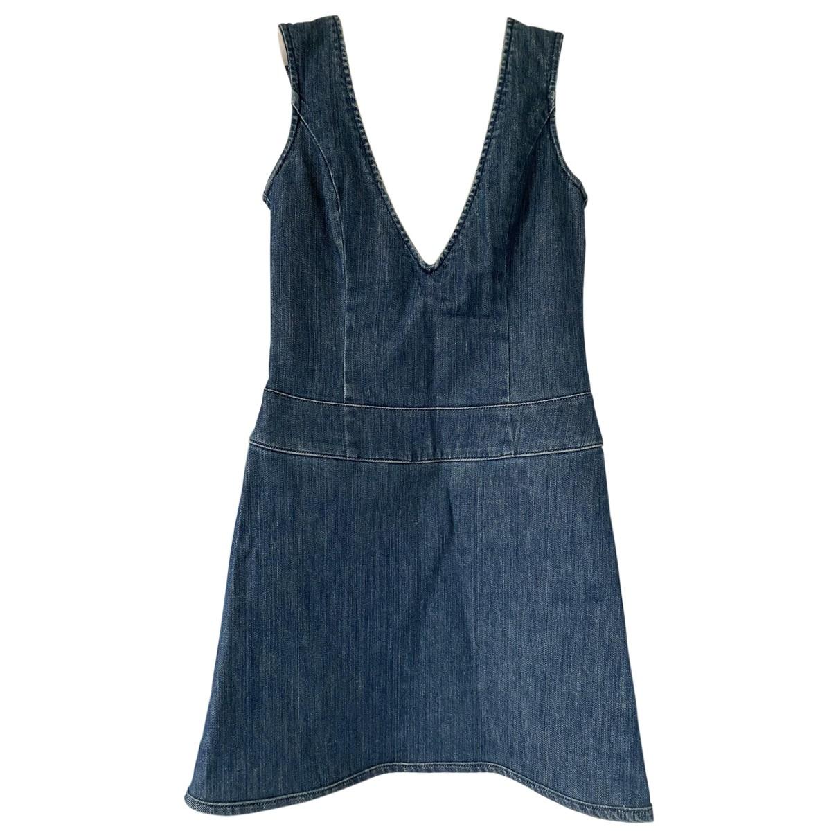 Versace Jeans \N Blue Denim - Jeans dress for Women 42 IT