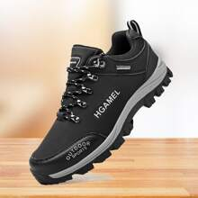 Men Lace Up Front Hiking Sneakers