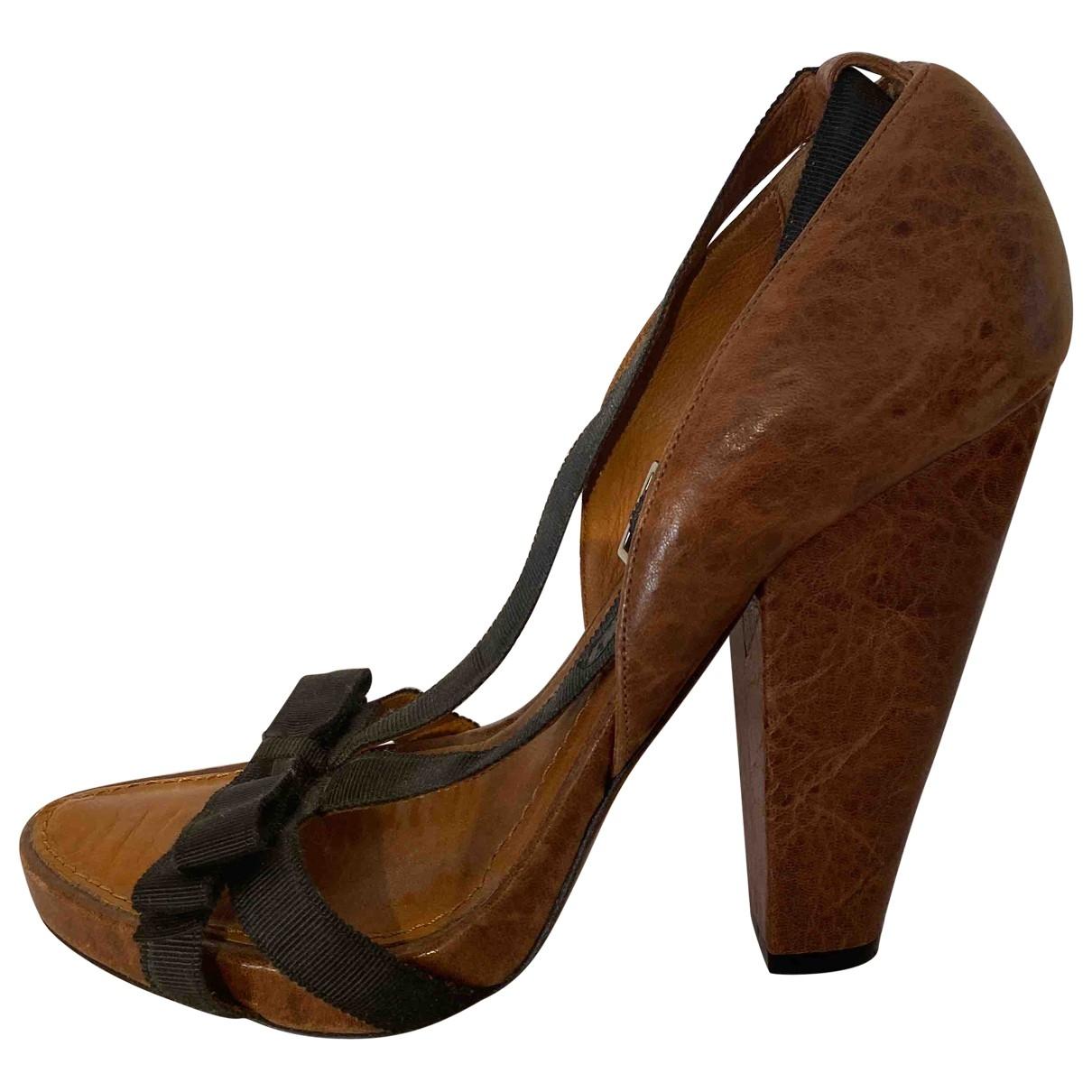 Givenchy - Escarpins   pour femme en cuir - marron