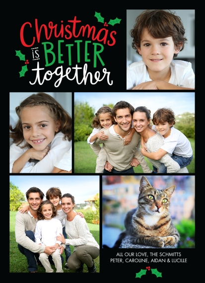 Christmas Photo Cards Mail-for-Me 7x10 Seal & Send Cards, Card & Stationery -Christmas is BETTER together