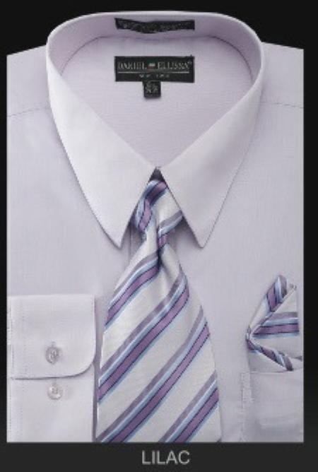 Mens Dress Shirt PREMIUM TIE Lilac