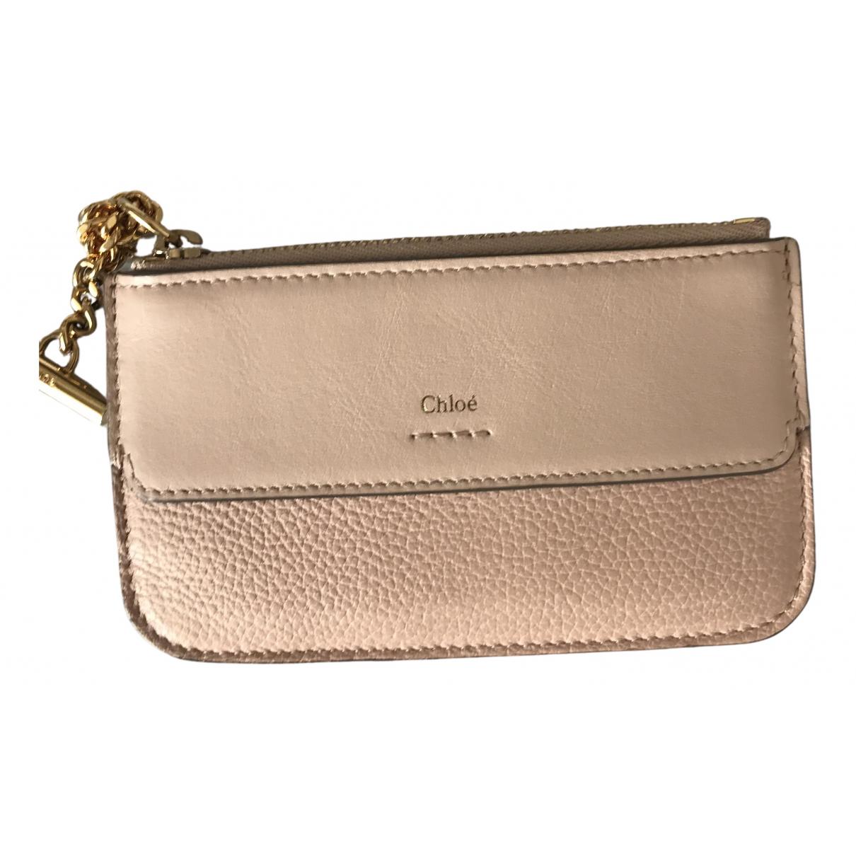 Chloe \N Portemonnaie in  Rosa Leder