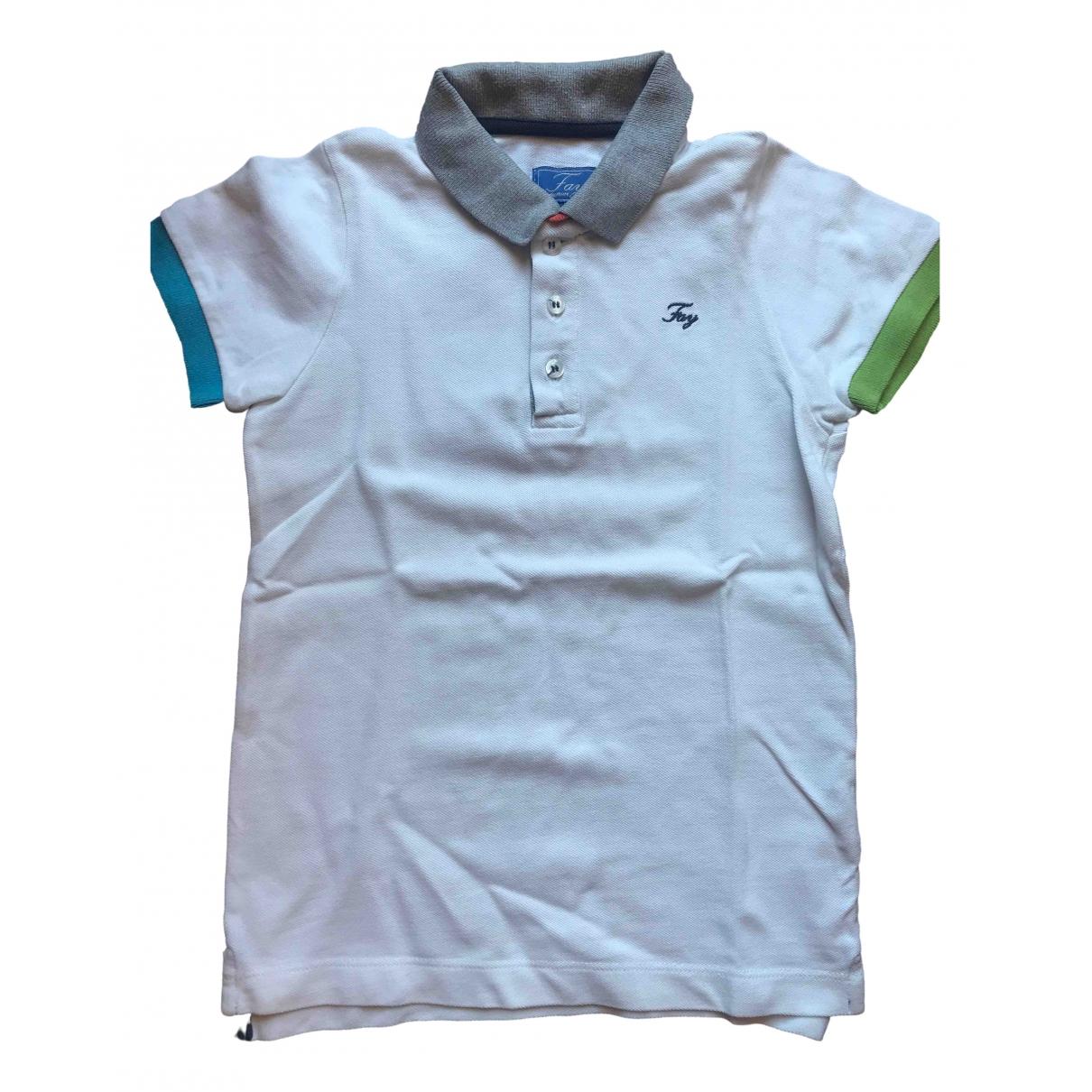 Fay - Top   pour enfant en coton - blanc