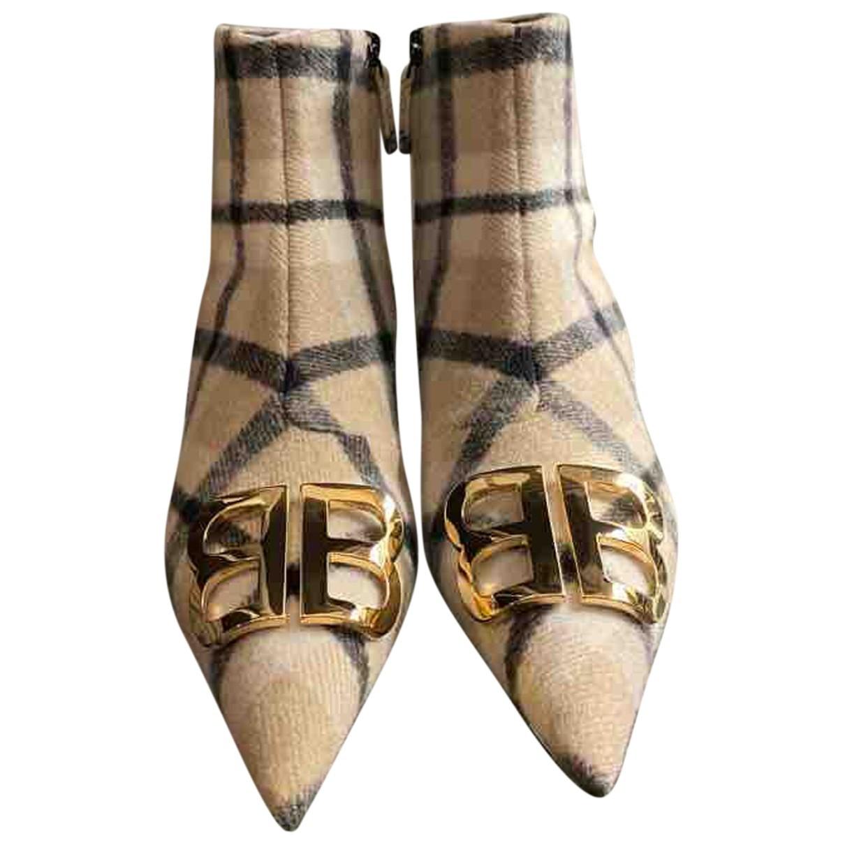 Balenciaga - Boots BB pour femme en tweed