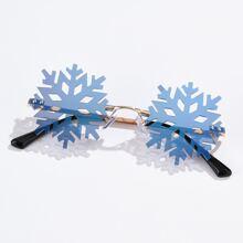 Gafas de sol de hombres con diseño de copo de nieve de Navidad