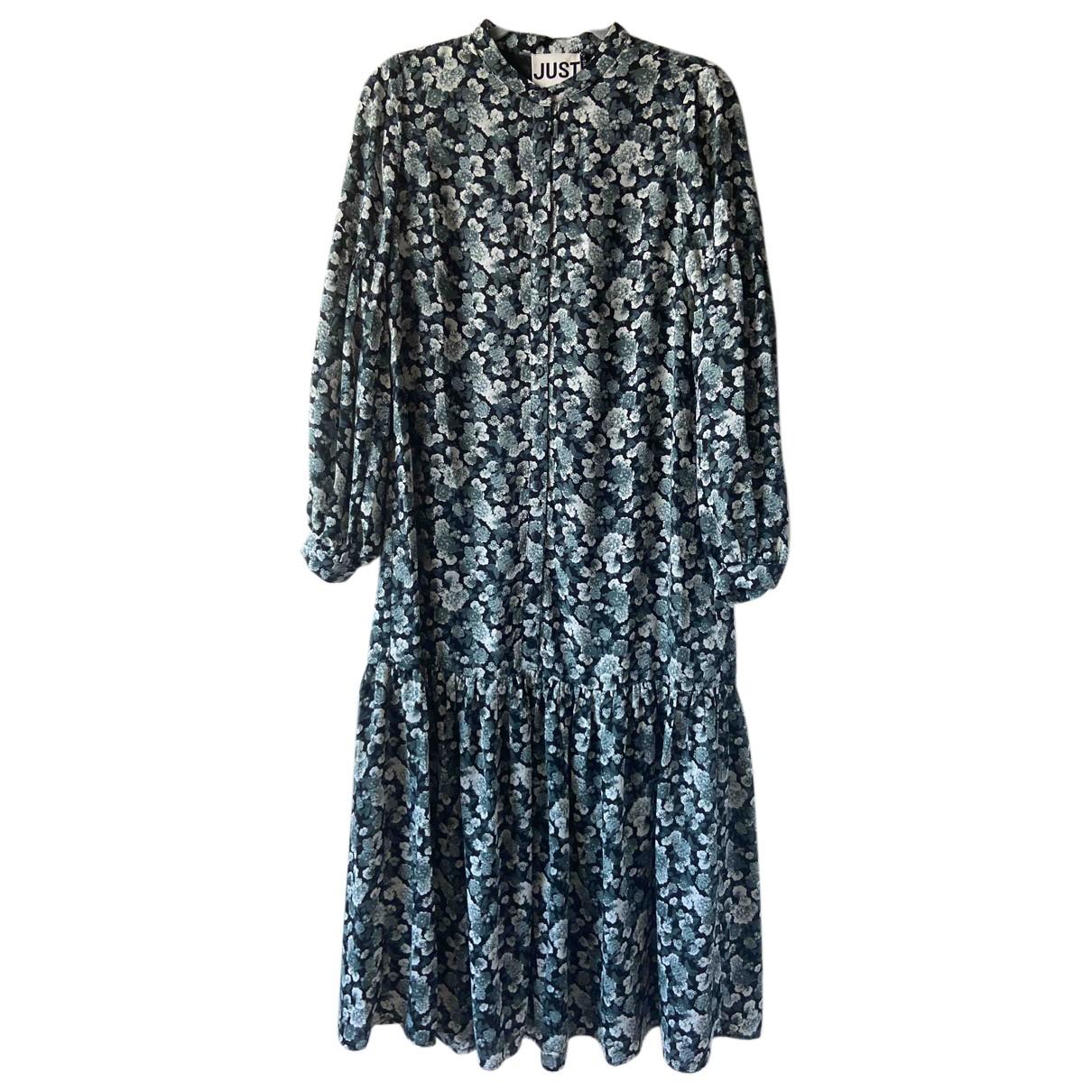 Just Female \N Kleid in  Blau Polyester