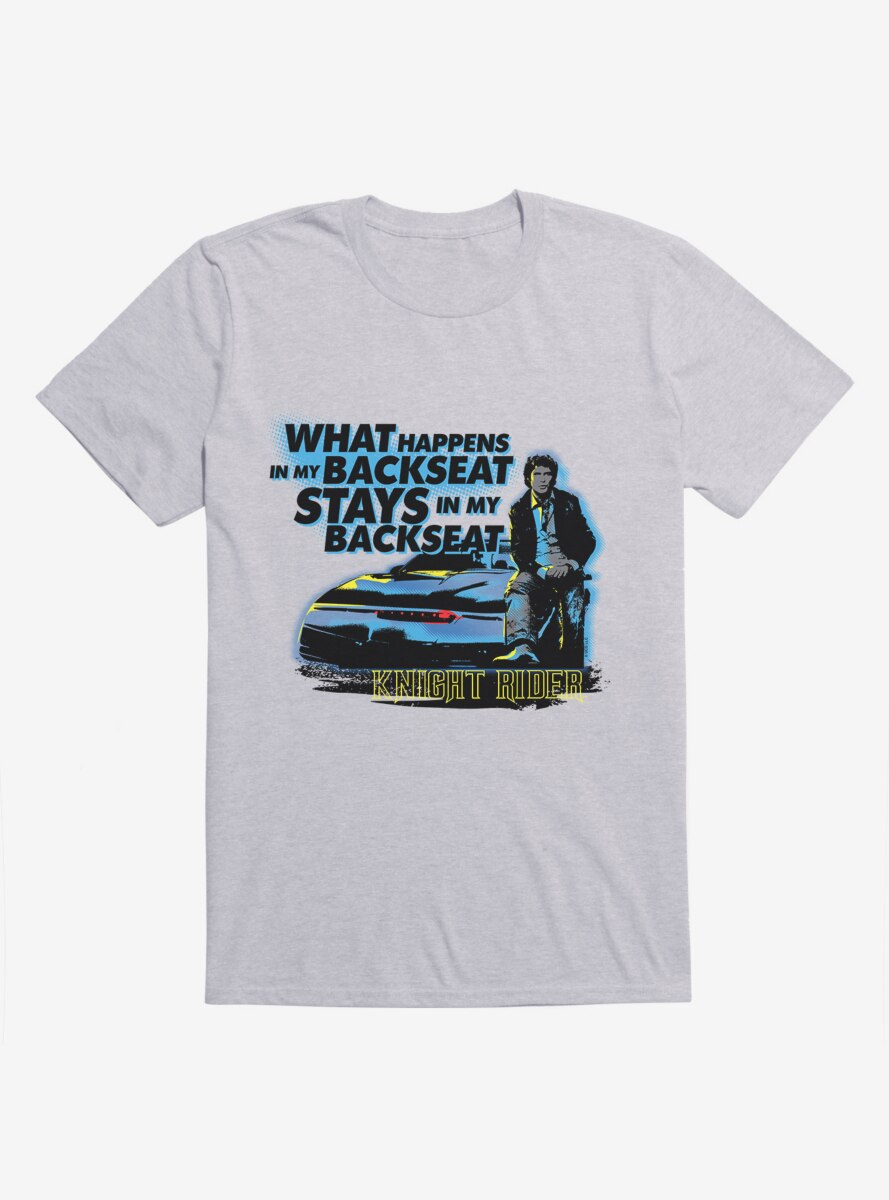 Knight Rider What Happens In The Backseat T-Shirt