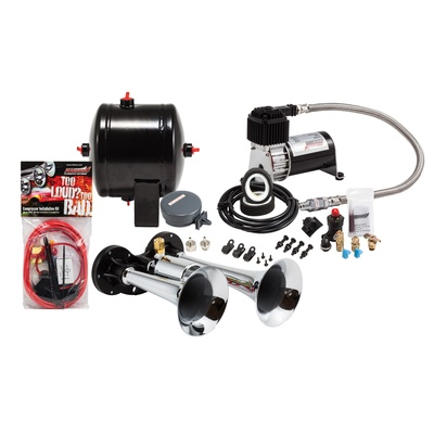 Kleinn Train Horns Complete Dual Air Horn Package with 120 PSI Sealed Air System - HK1