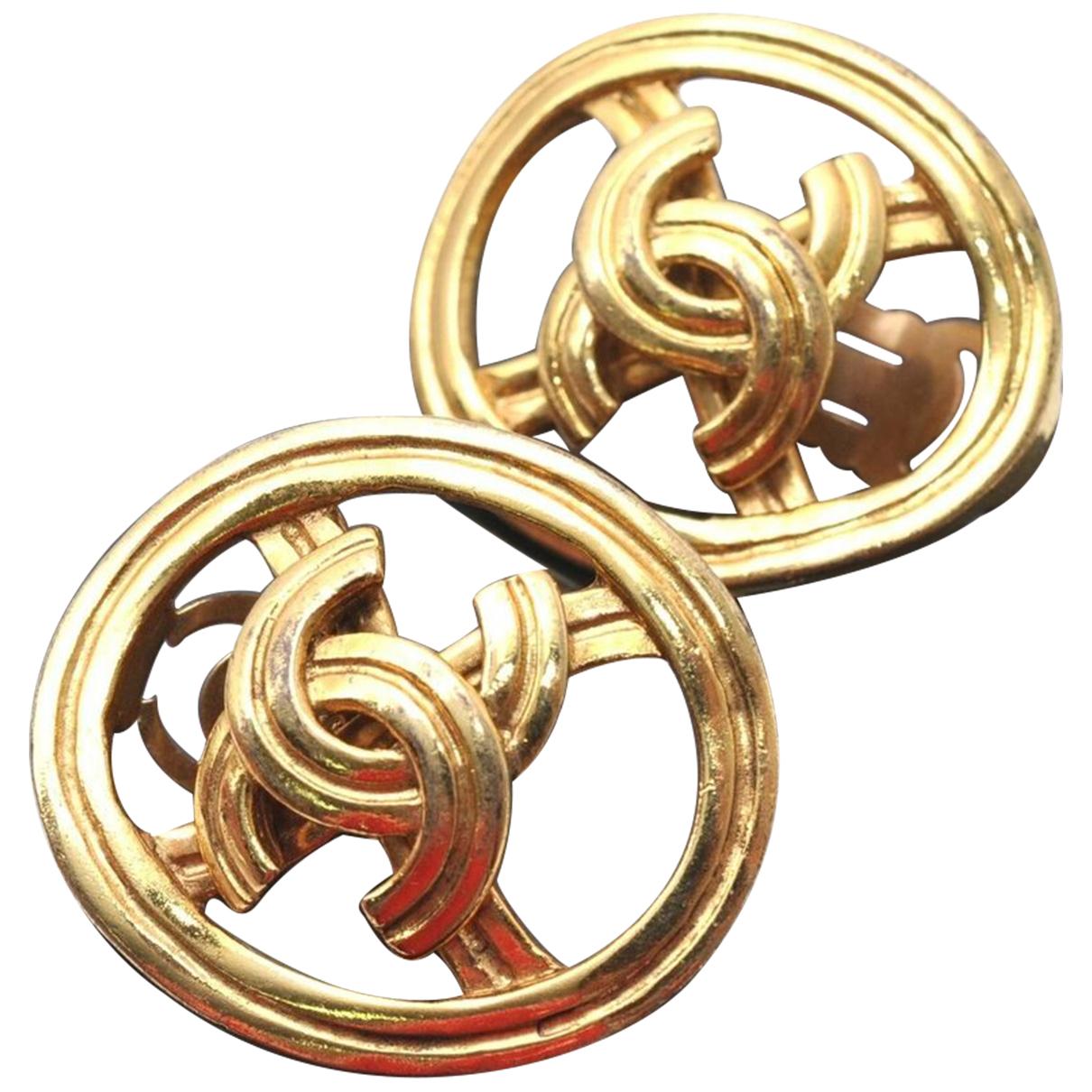 Chanel CC OhrRing in  Gold Vergoldet