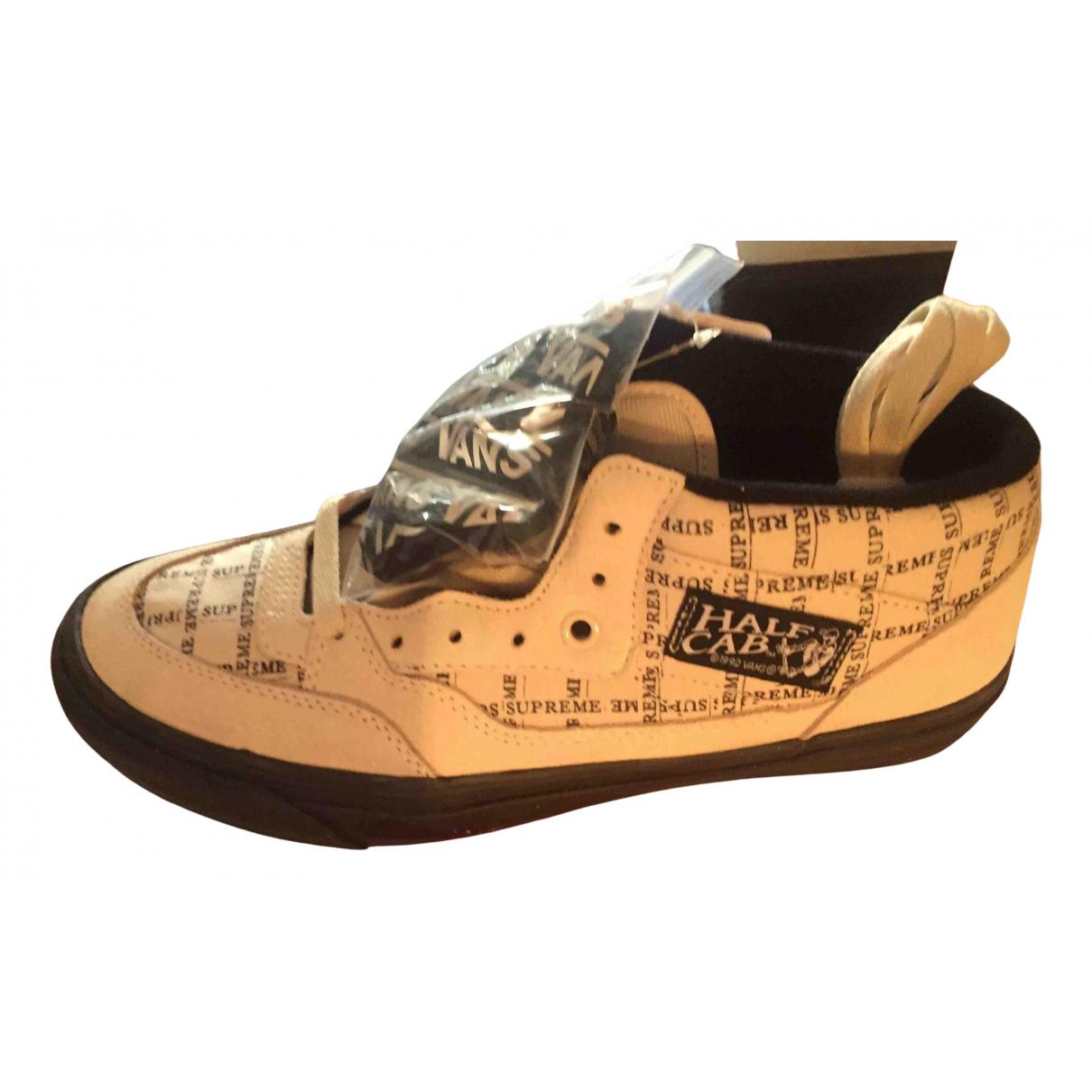 Vans X Supreme \N Sneakers in  Grau Leder