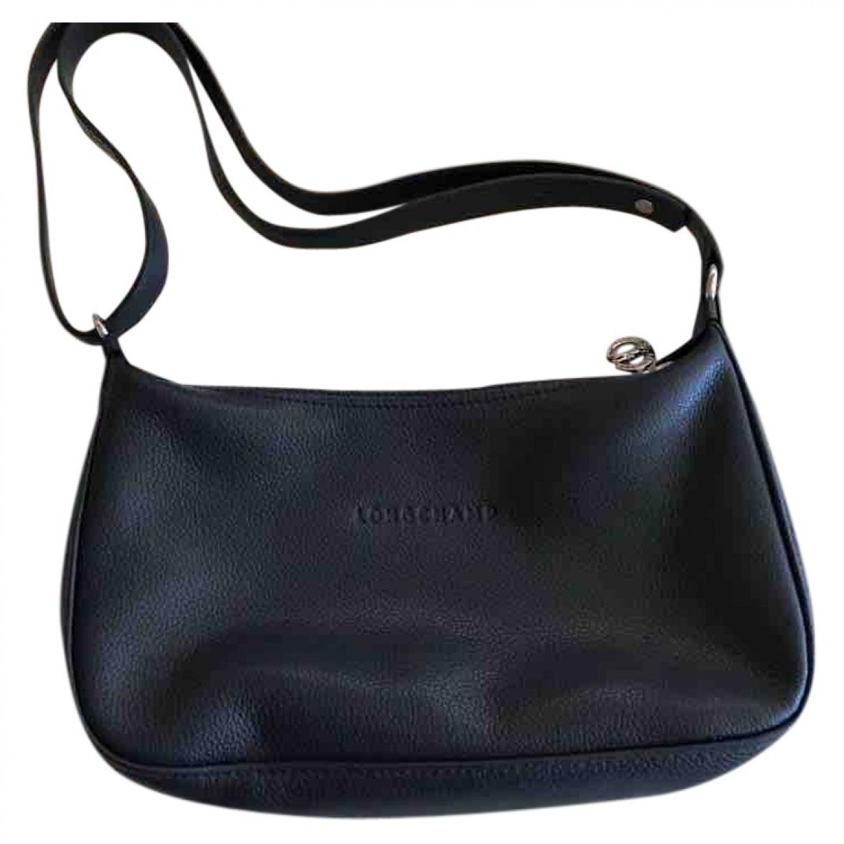 Longchamp - Pochette   pour femme en cuir - marine