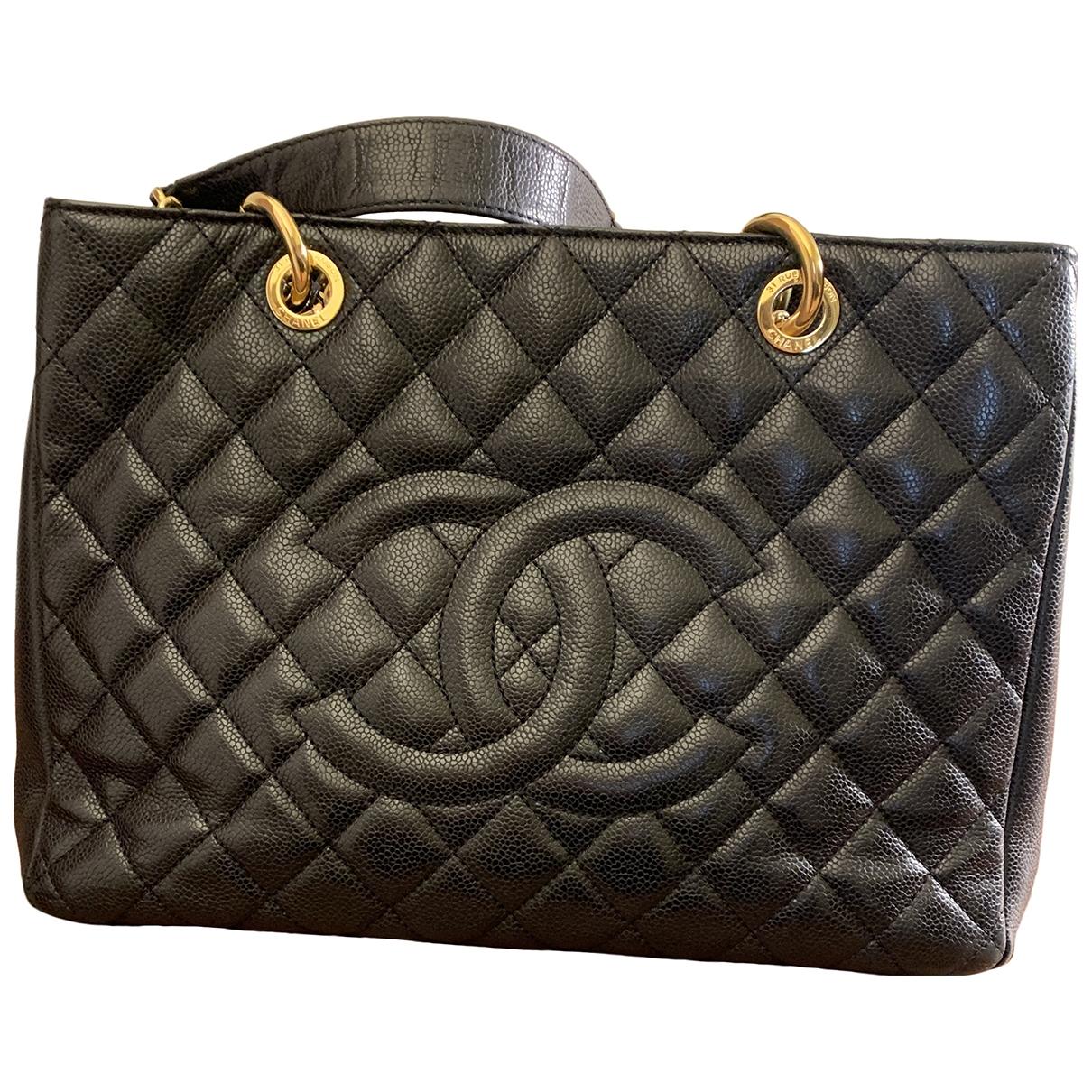 Chanel - Sac a main Grand shopping pour femme en cuir - noir