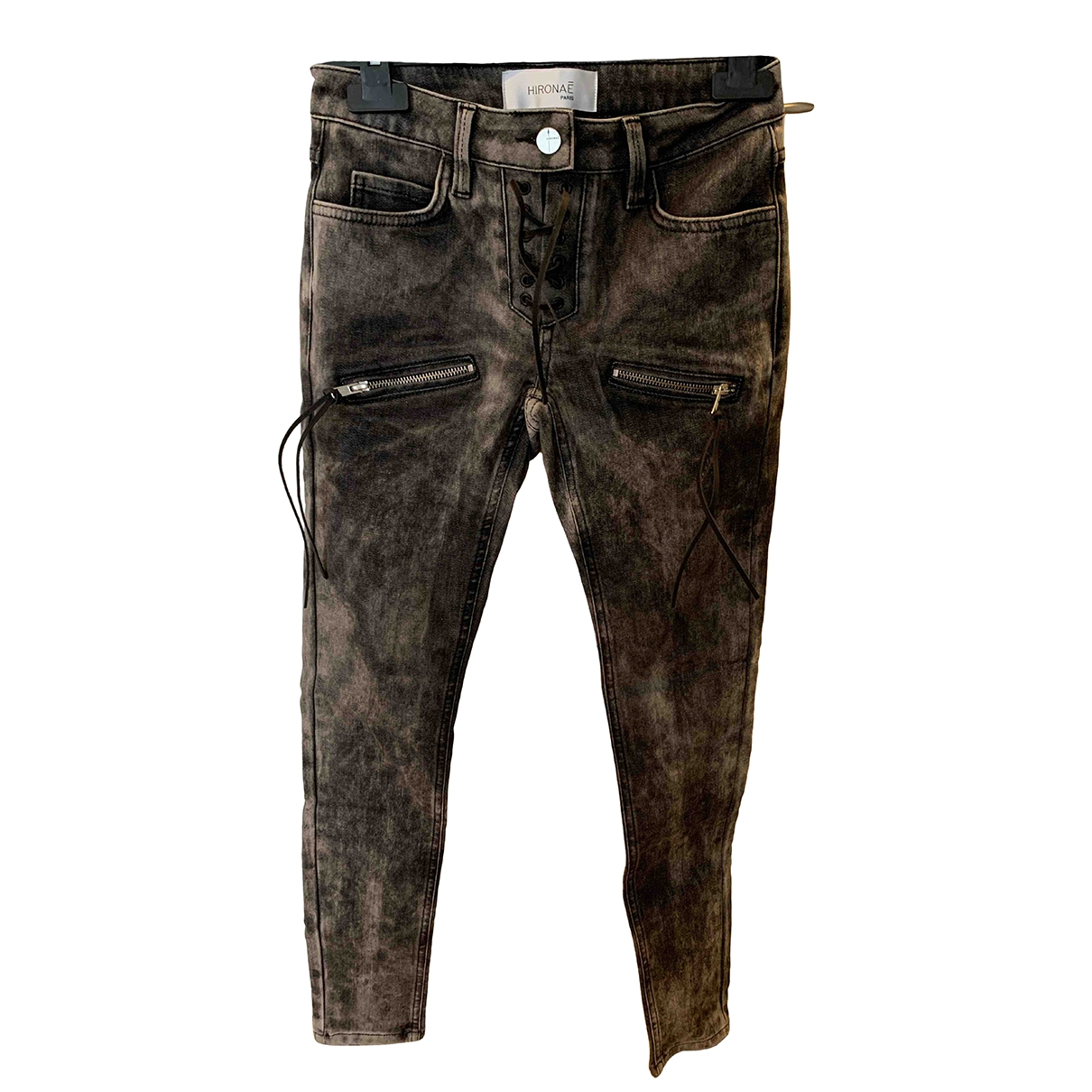 Hironae \N Grey Cotton Jeans for Women 34 FR