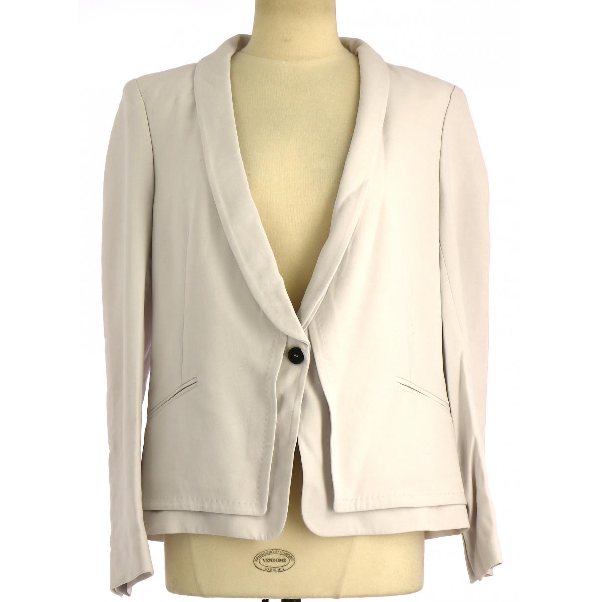 Comptoir Des Cotonniers \N White Cotton jacket for Women 40 FR