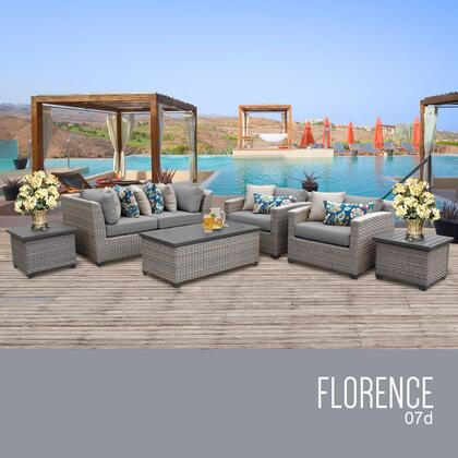 FLORENCE-07d Florence 7 Piece Outdoor Wicker Patio Furniture Set 07d with 1 Cover in