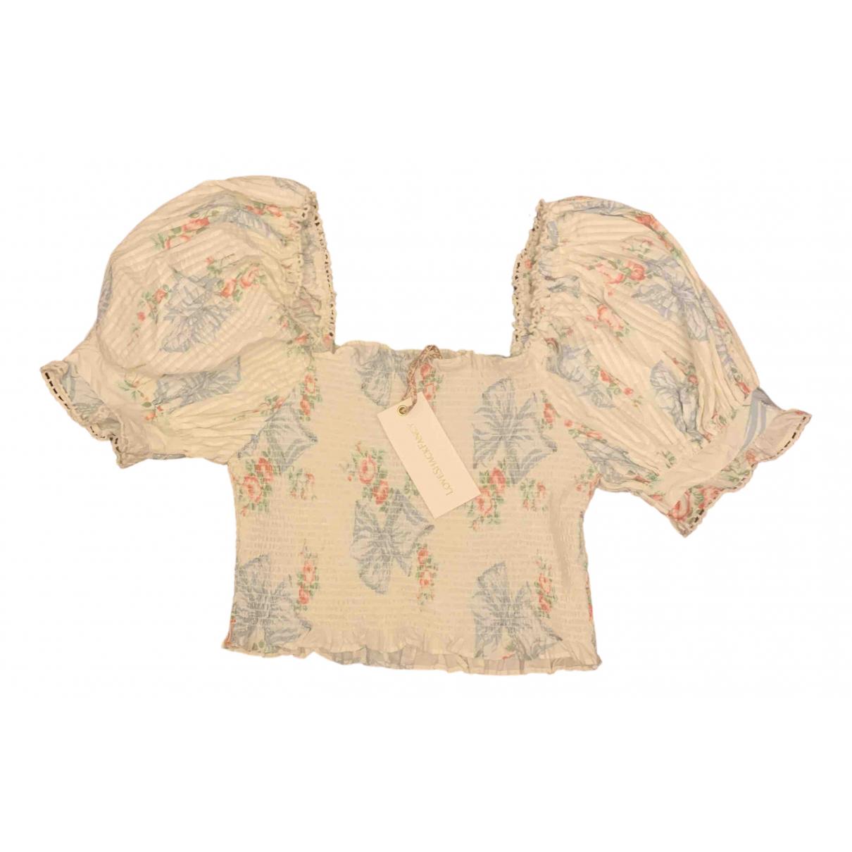 Love Shack Fancy - Top   pour femme en coton - blanc