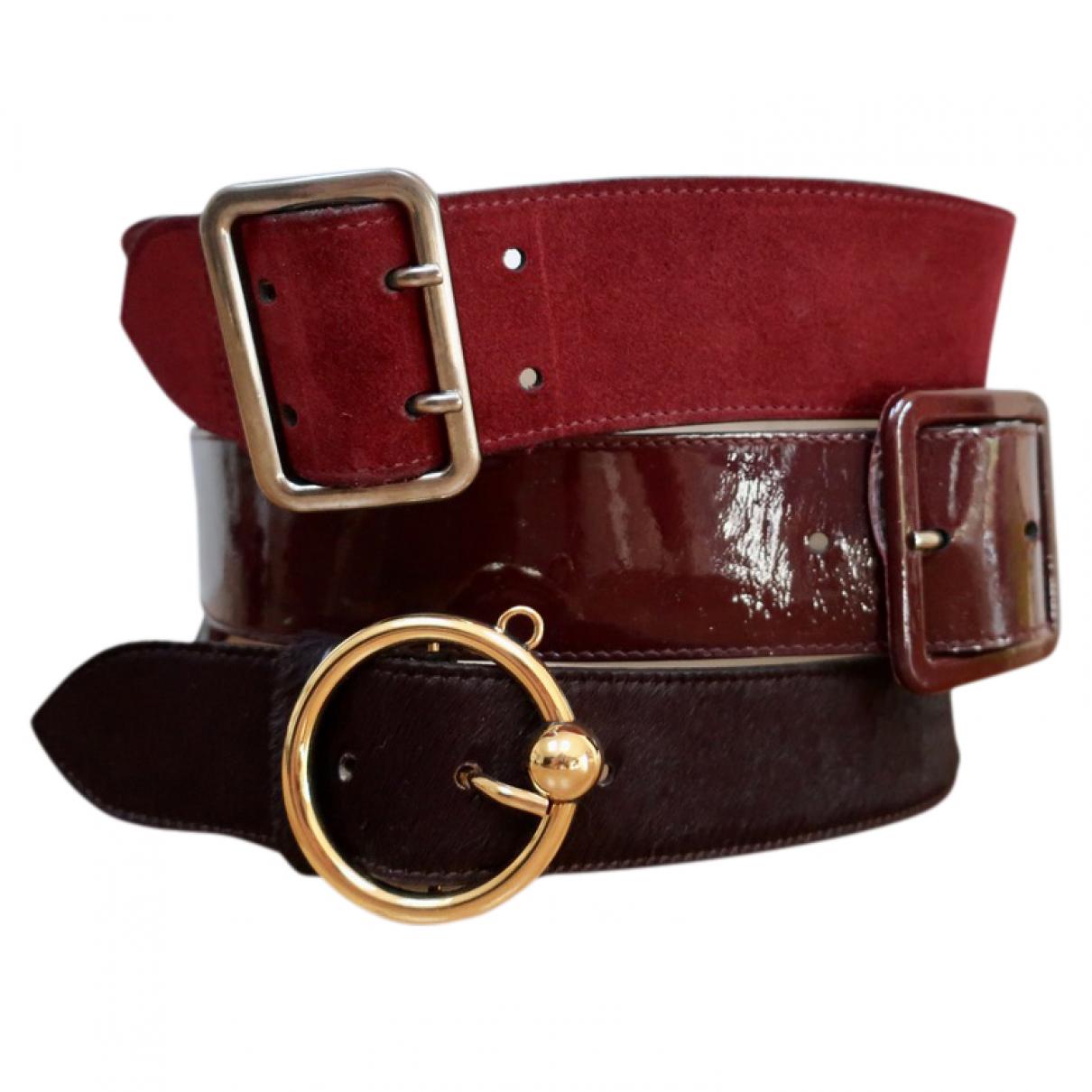 Cinturon de Cuero Jean Paul Gaultier