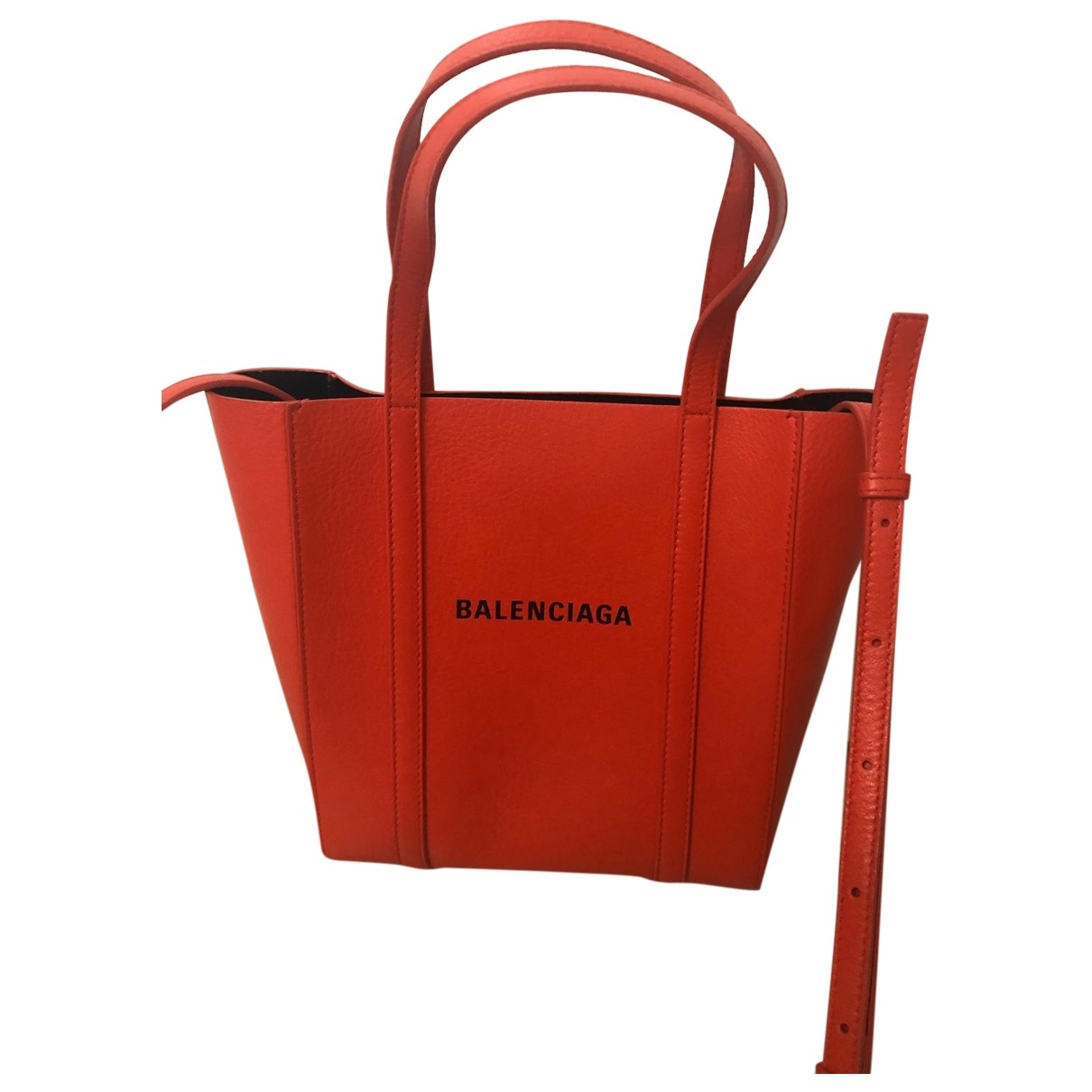 Balenciaga \N Orange Leather handbag for Women \N