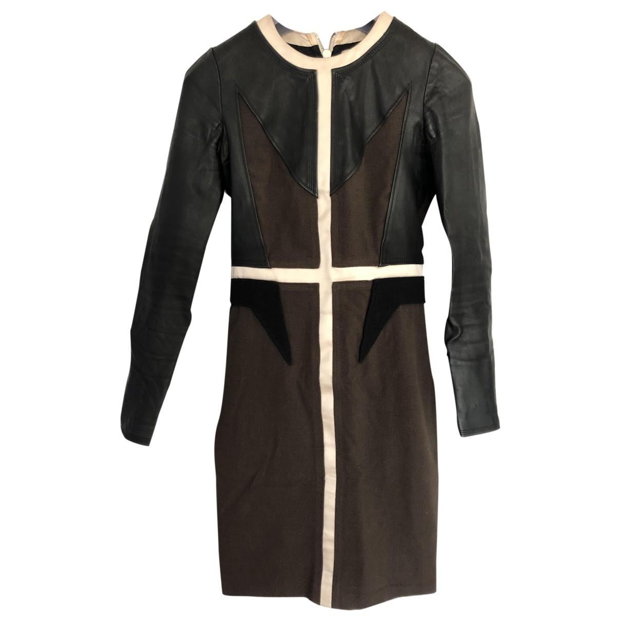 Givenchy \N Kleid in  Khaki Leder