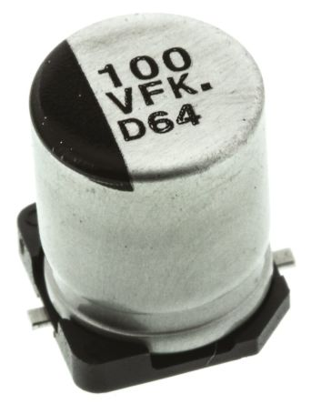 Panasonic 100μF Electrolytic Capacitor 35V dc, Surface Mount - EEEFK1V101AP (5)