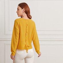 Jersey con cordon trasero de hombros caidos