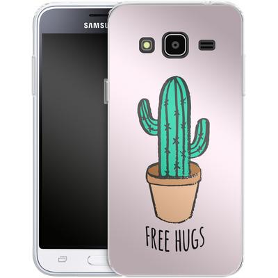 Samsung Galaxy J3 (2016) Silikon Handyhuelle - Cactus Free Hugs von caseable Designs
