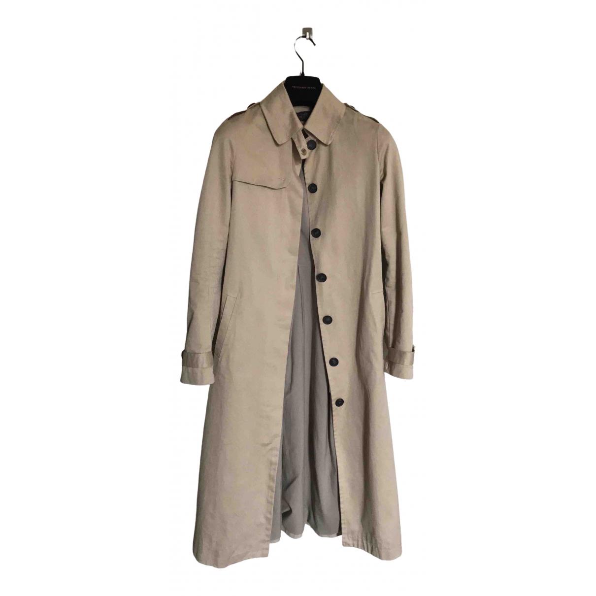 Trussardi Jeans \N Beige Cotton Trench coat for Women 40 IT