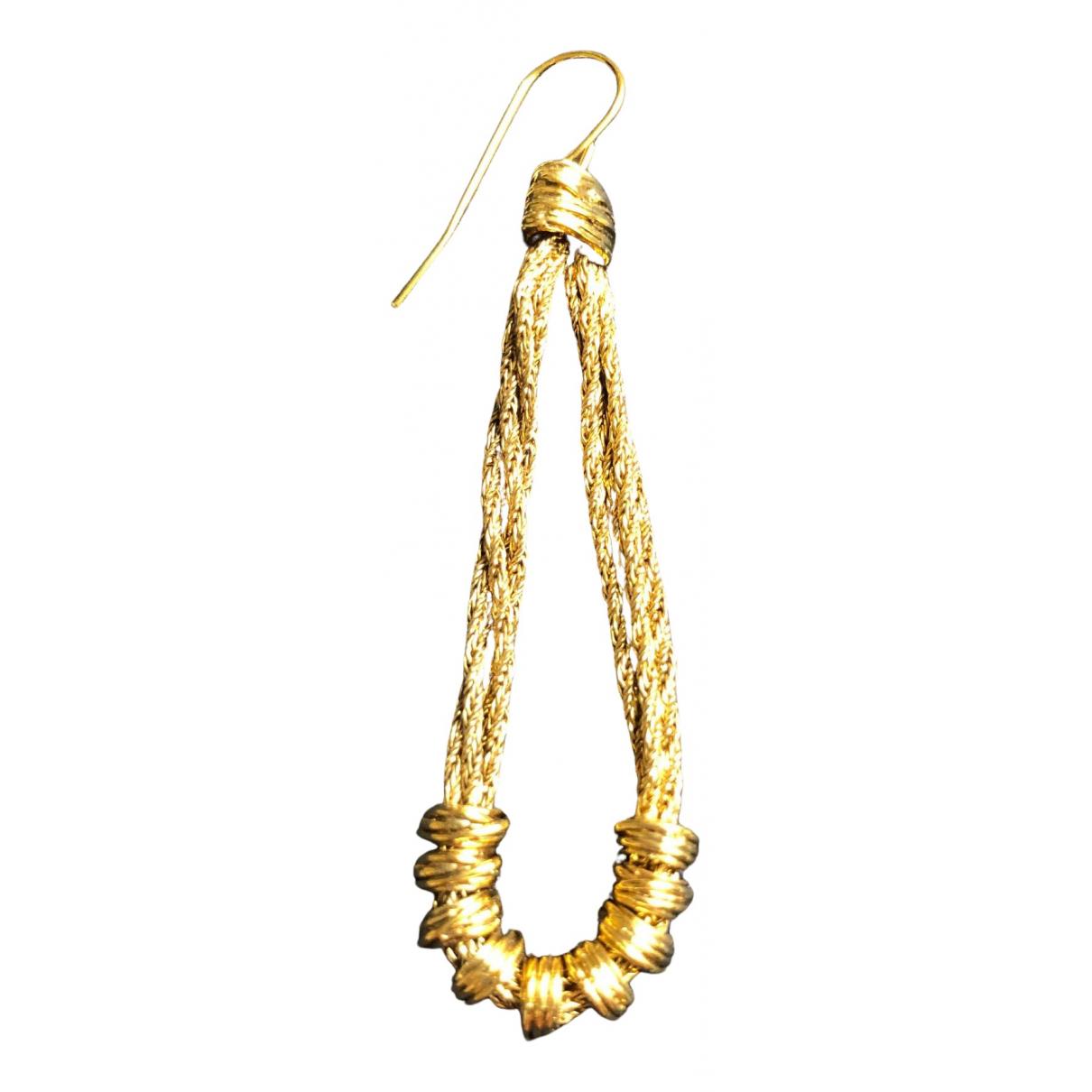 Aurelie Bidermann - Boucles doreilles   pour femme en plaque or - dore
