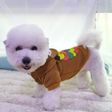 Hoodie mit Eule Muster fuer Hund