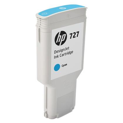 HP 727 F9J76A Original Cyan Ink Cartridge High Yield 300ml