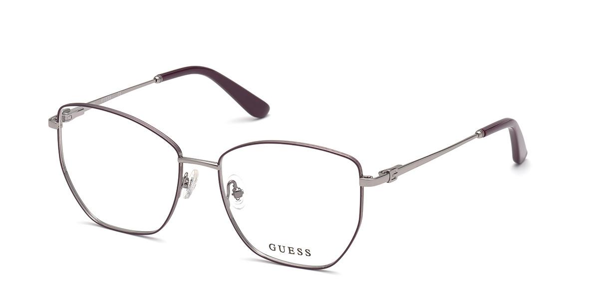 Guess GU 2825 083 Women's Glasses Silver Size 55 - Free Lenses - HSA/FSA Insurance - Blue Light Block Available