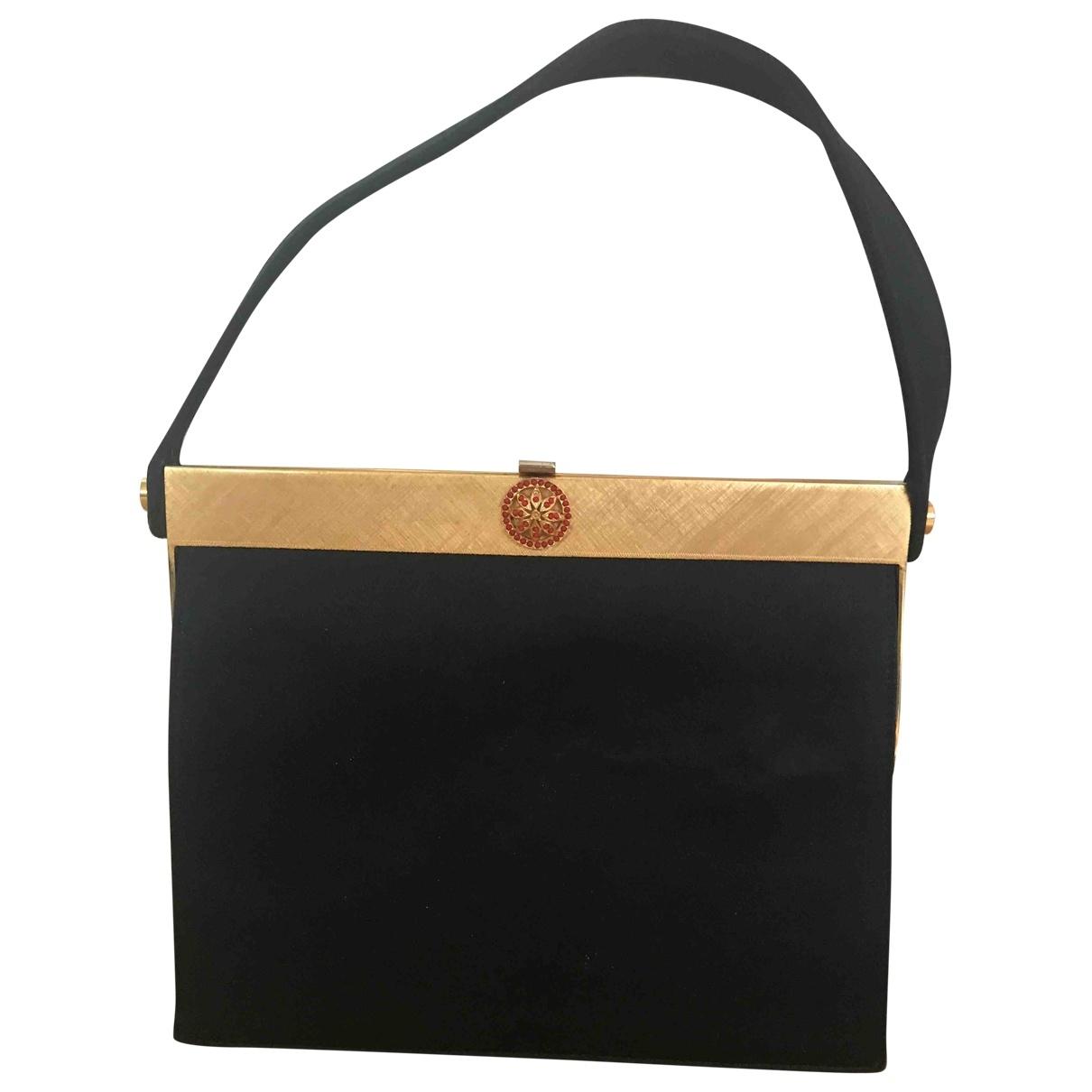 Loewe \N Handtasche in  Schwarz Leinen