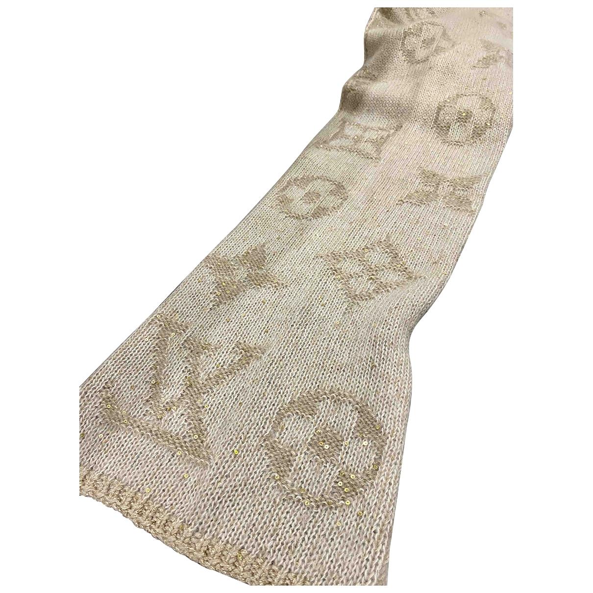 Louis Vuitton - Foulard   pour femme en laine - beige