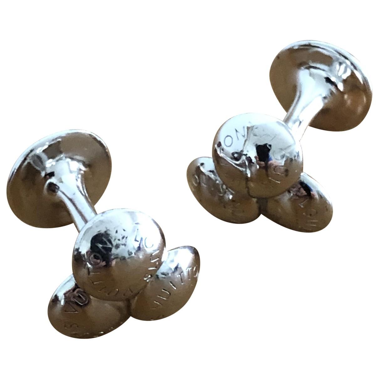 Louis Vuitton \N Manschettenknopfe in  Silber Silber
