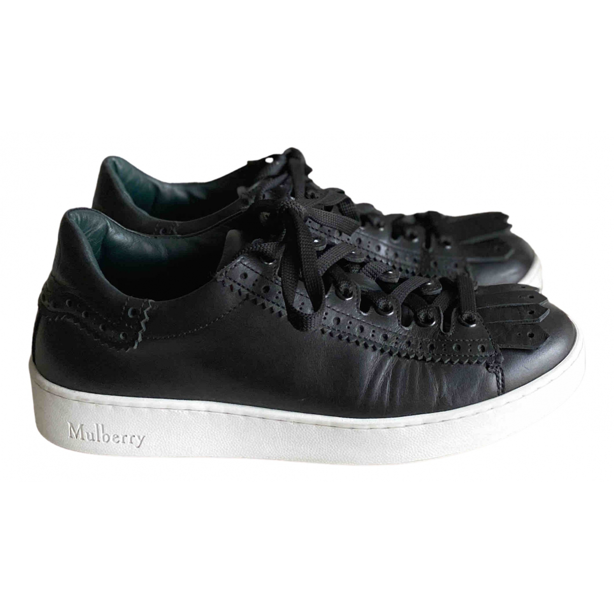 Mulberry \N Black Leather Trainers for Women 37 EU
