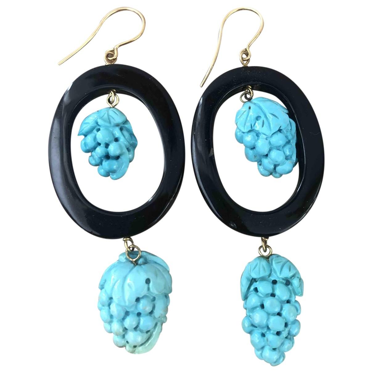 - Pendentif Onyx pour femme en metal - turquoise