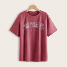 Letter Graphic Oversized Tee
