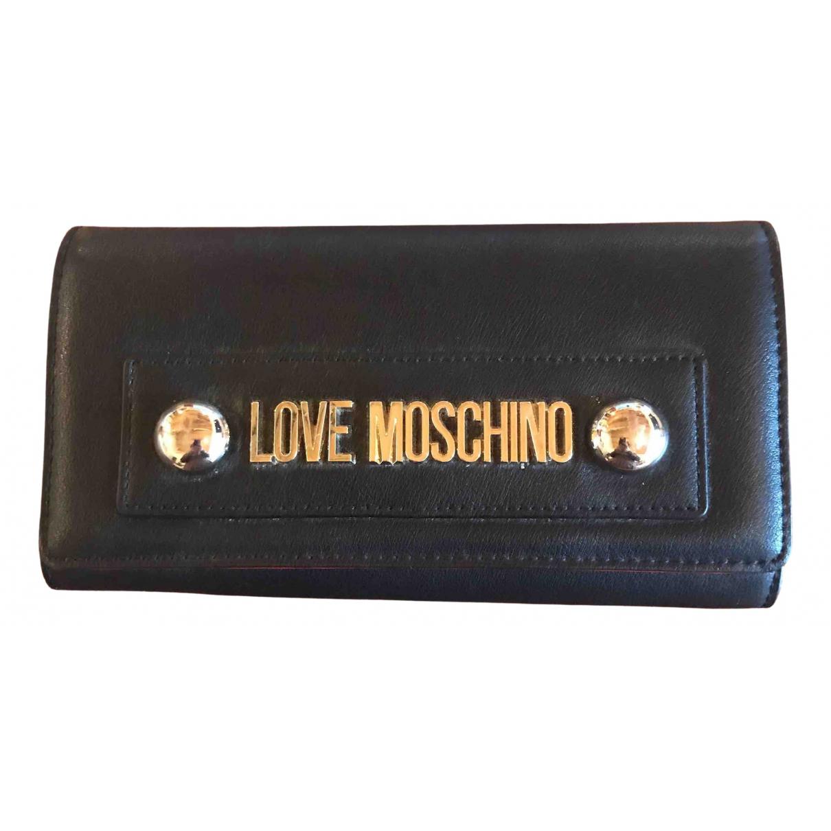 Moschino Love - Portefeuille   pour femme en autre - noir