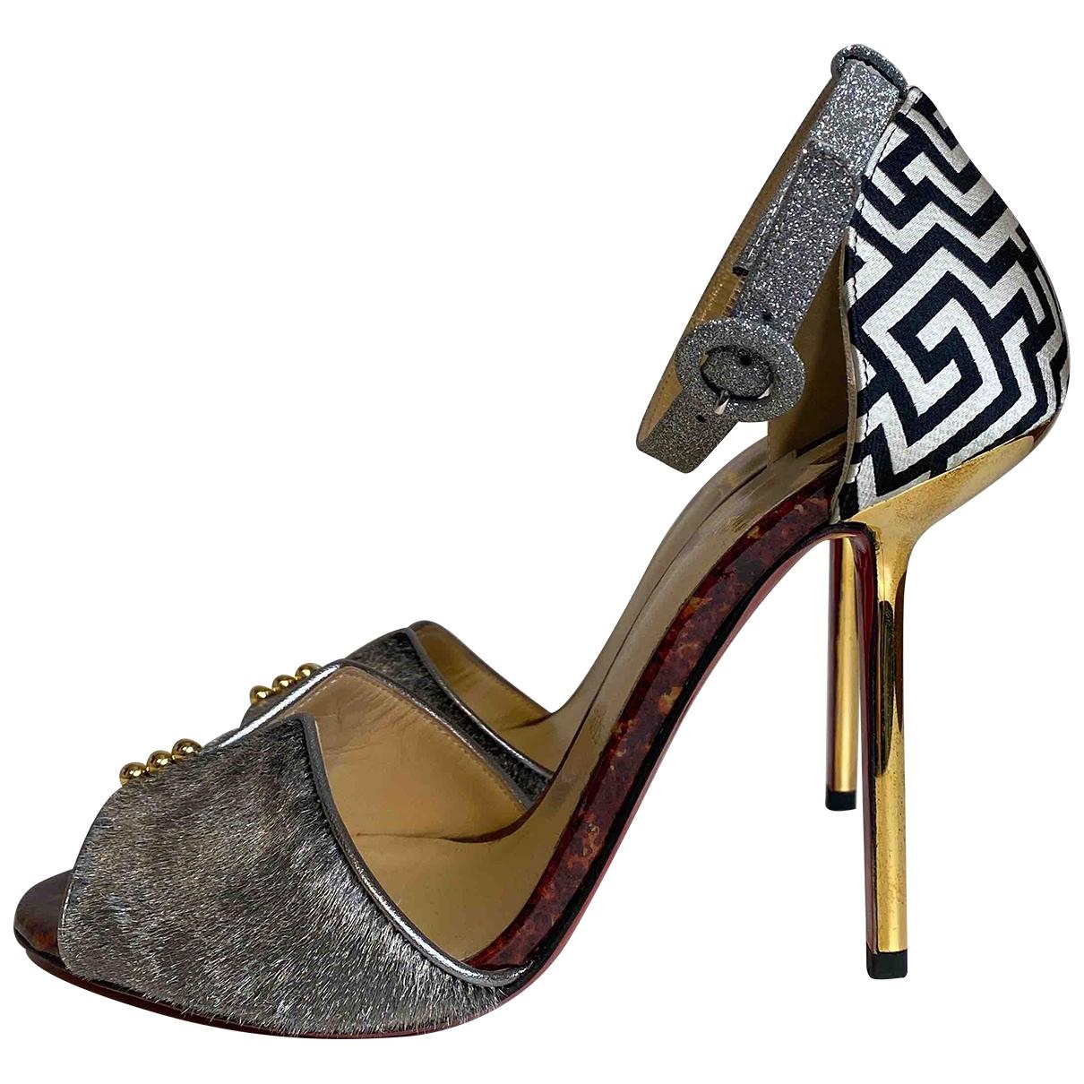 Christian Louboutin \N Silver Leather Sandals for Women 39 EU