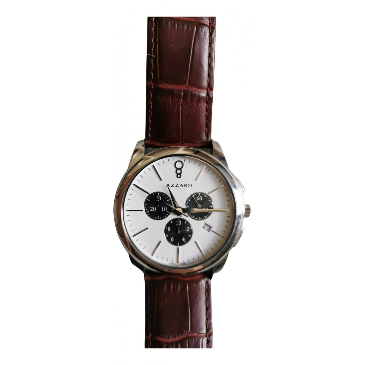 Azzaro \N Uhr in  Braun Stahl