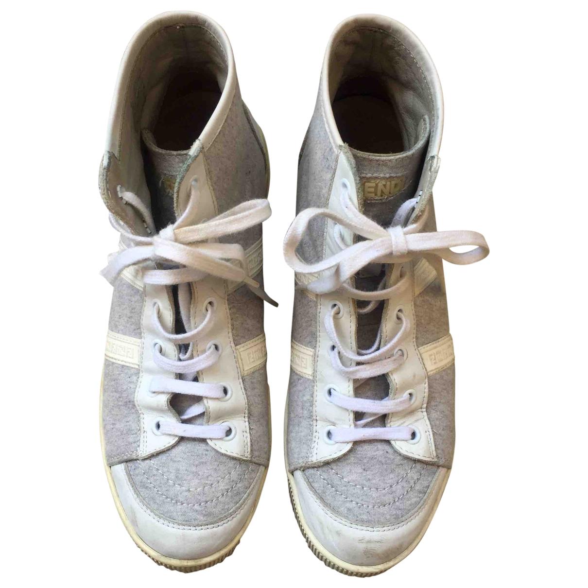 Fendi \N Grey Cloth Trainers for Women 37.5 EU