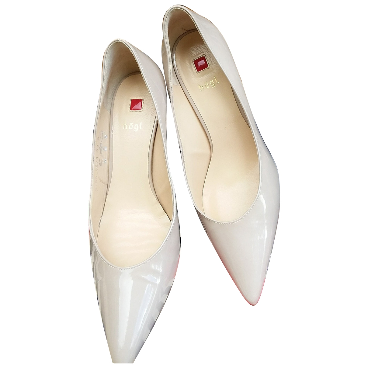 Non Signé / Unsigned \N Beige Patent leather Heels for Women 39 EU