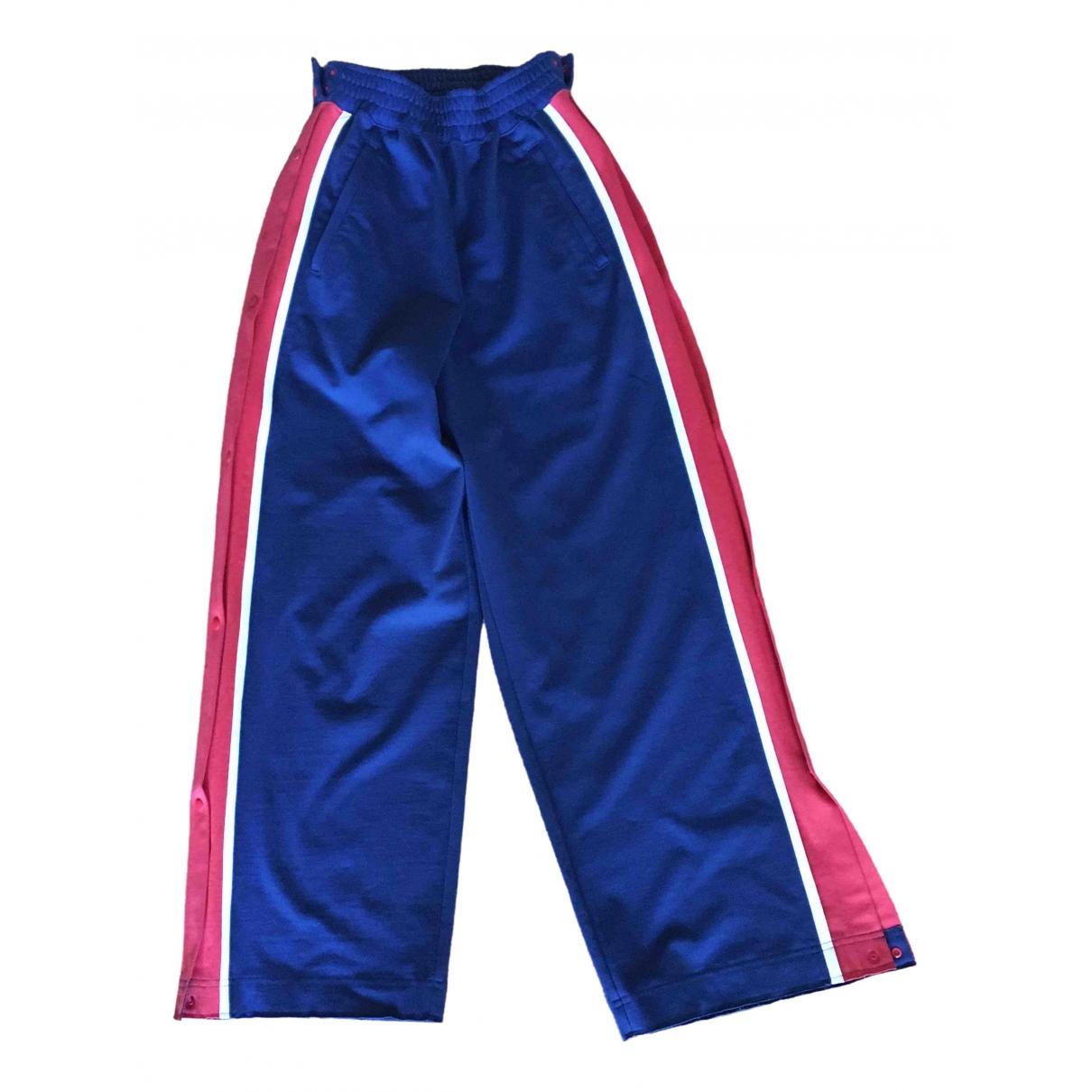 Pantalon en Algodon Azul Facetasm