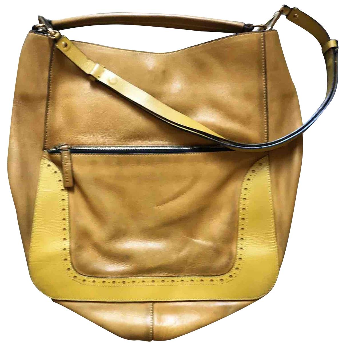 Marni \N Yellow Leather handbag for Women \N