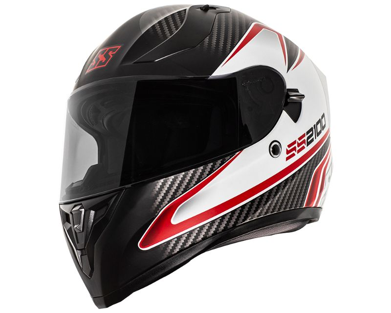 Speed and Strength 884892 SS2100 Circuit Helmet Protective ABS Shell White Black Red SM