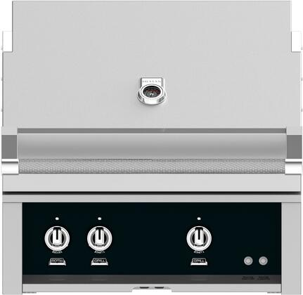 GMBR30-NG-BK 30 Built-In Natural Gas Grill with Standard and Infrared Burners  Rotisserie  519 sq. inches Grilling Surface Size  Warming Rack  ETL