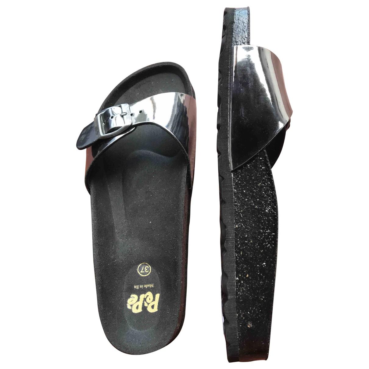 Pepe Children Shoes \N Sandalen in  Silber Leder