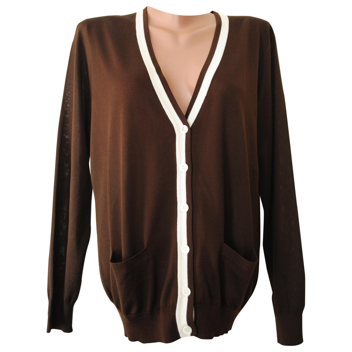 Ralph Lauren \N Pullover in  Braun Seide