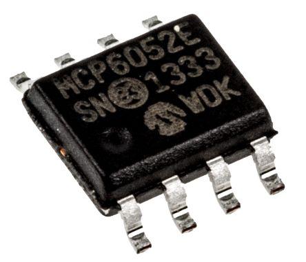 Microchip MCP6052-E/SN , Precision, Op Amp, RRIO, 380kHz, 3 V, 5 V, 8-Pin SOIC