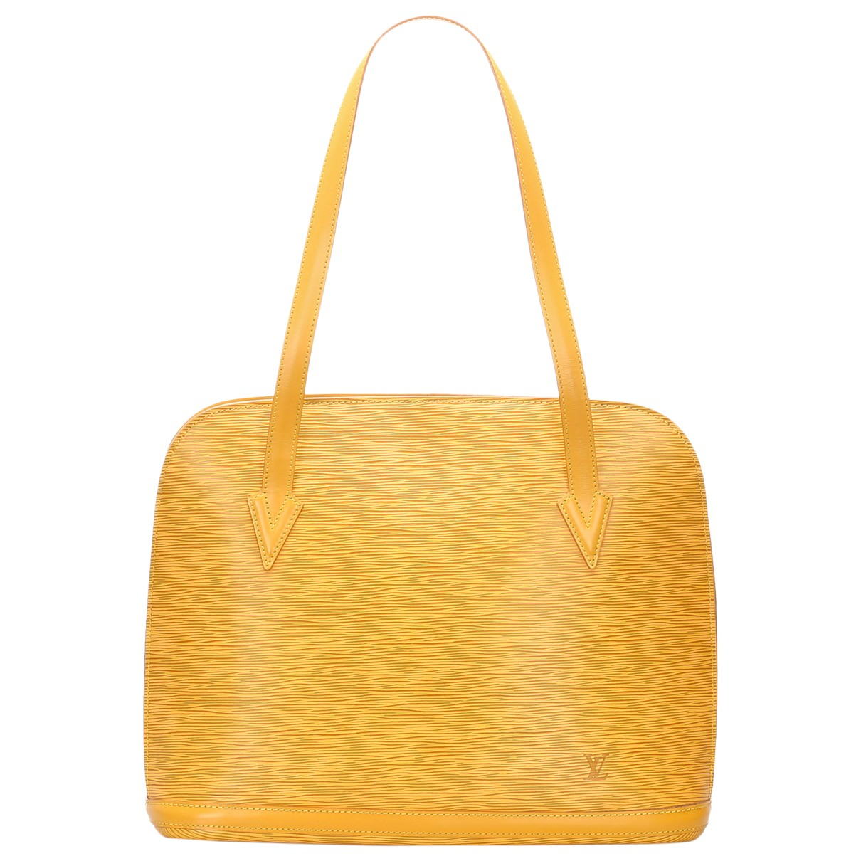 Louis Vuitton \N Yellow Leather handbag for Women \N
